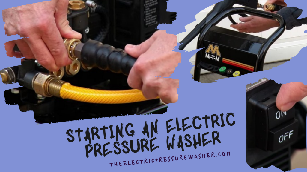 How to start an Electric Pressure Washer