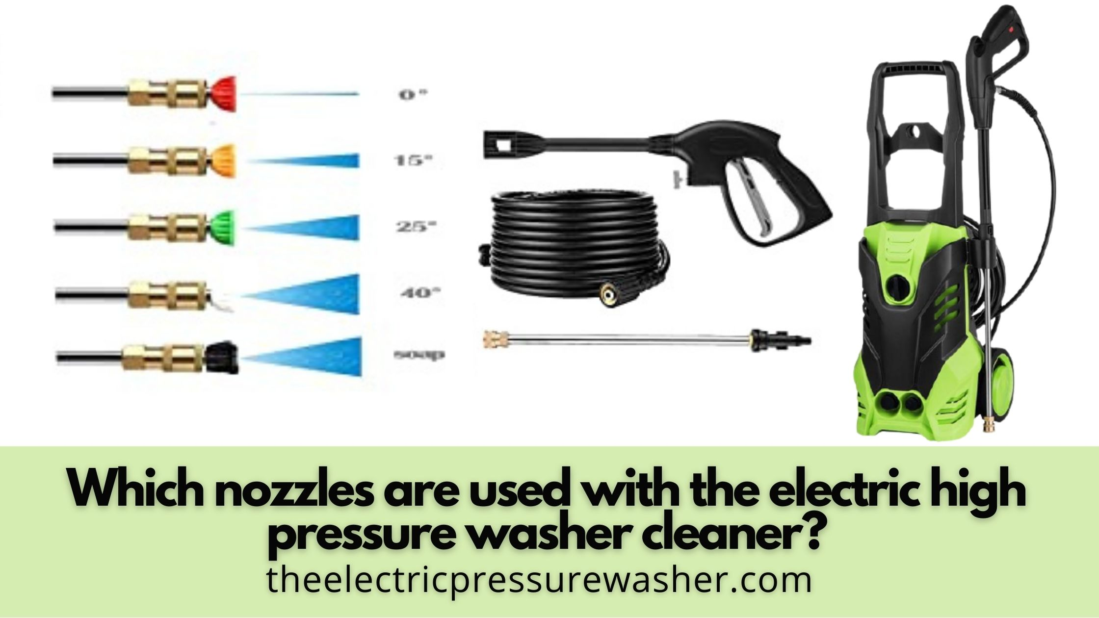 nozzles for pressure washer